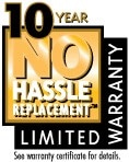 10 Year NO Hassle Warranty