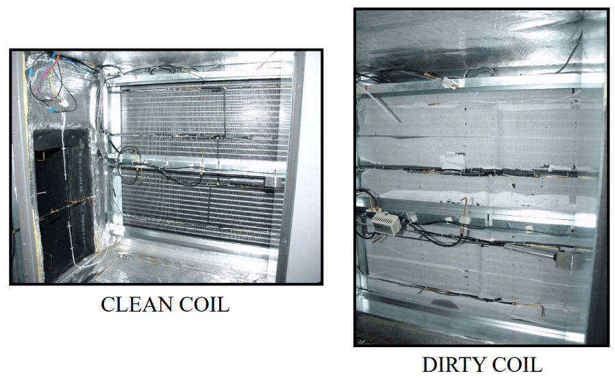 HVAC Maintenance - Clean evaporator coils at least twice a year