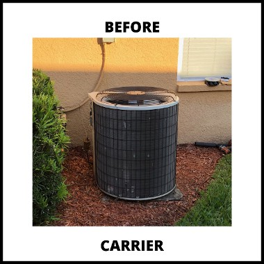before image of Carrier ac in North Tampa