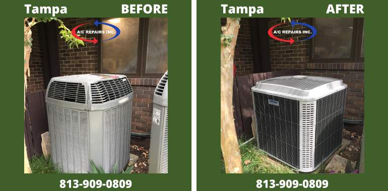 tampa before after ac replacement