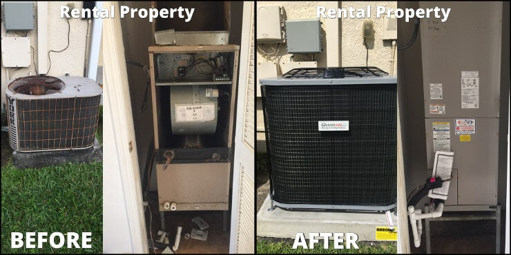 rental property replacement before after
