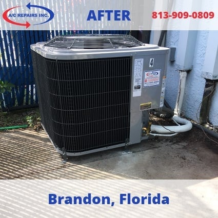 Brandon air conditioning after replacement