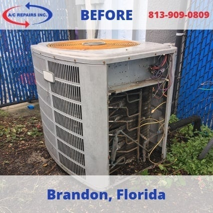 Brandon air conditioning before replacement