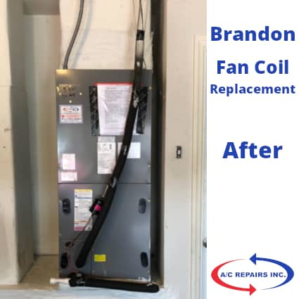 Brandon fan coil replacement after