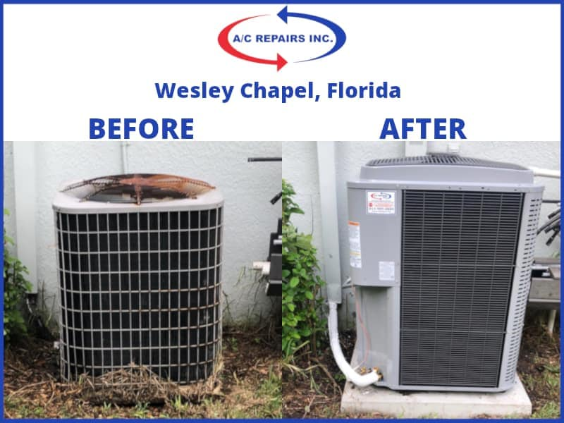 Wesley Chapel before and after ac replacement
