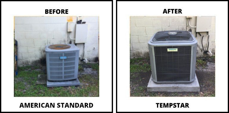 ac replacement before-after in Lutz