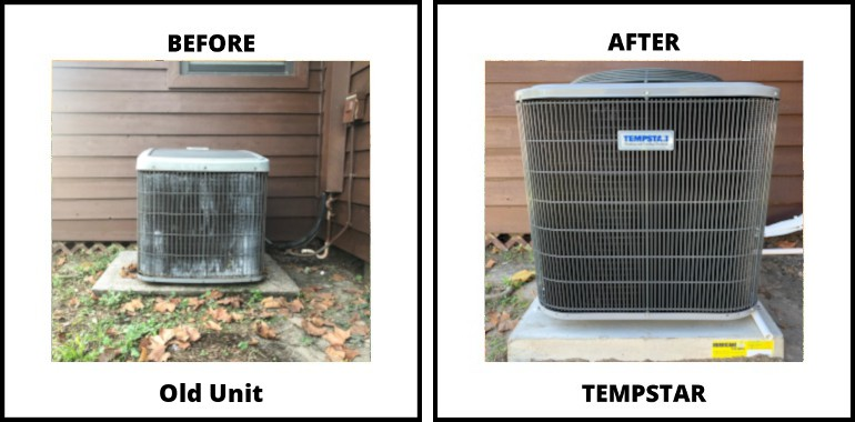 land-o-lakes ac replacement before-after